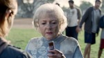 Betty White seen here in her infamous Snickers commercial . The noted comedic actress made the statement that she'd have willingly spent the night with LeBron if it would induce him to remain with the Cavaliers. courtesy of DMBB ..........