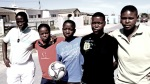 Members of a soccer team for Luleki Sizwe, a project in Nyanga that supports lesbians. courtesy of espn / Joel & Jesse Edwards ......
