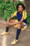 Tumi Mkhuma, a corrective rape survivor from Katlehong, now plays for an all-lesbian soccer team. courtesy of espn.com/ ......