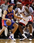 Detroit Pistons forward Tayshaun Prince (22) works against Miami Heat forward LeBron James (6) during a preseason NBA basketball game in Miami, Tuesday, Oct. 5, 2010. AP Photo/Wilfredo Lee .....